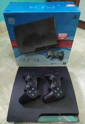 PS 3 HDD 500 GB Fullset beserta TV
