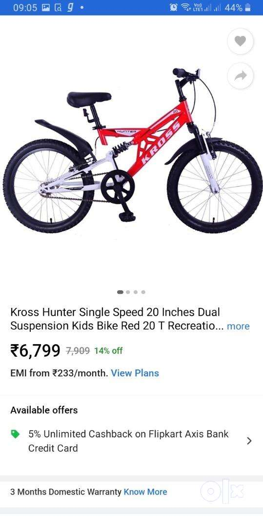 Kross bicycle for 5 years above kids