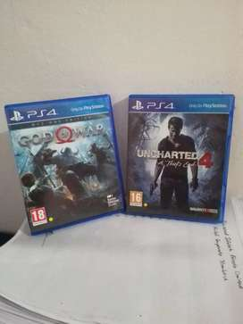 Ps4 games in mint condition (unacharted 4 & god of war 2018)