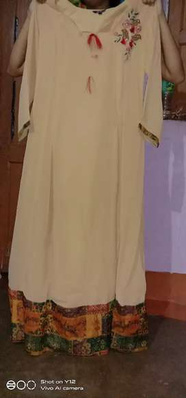 designer gown and long kurti