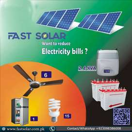 2KW/2.4KW Solar System for your home/office