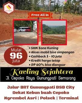 Tanah Murah di Jalan Raya Gunung Pati Semarang Dekat Wisata Ngrembel