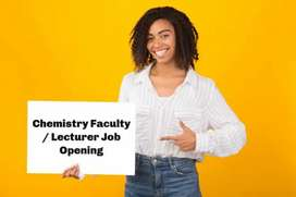 Chemistry Faculty for Class -11 & 12