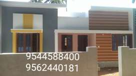 5.5 cent plot with 1300 Sq. Ft 3BHK house in kottiyam