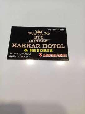 Sunder kakkar hotel Baddi urgently need