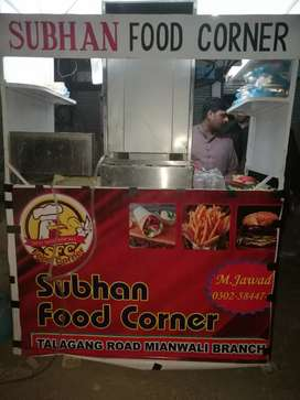 shawarma counter for sale with complete setup