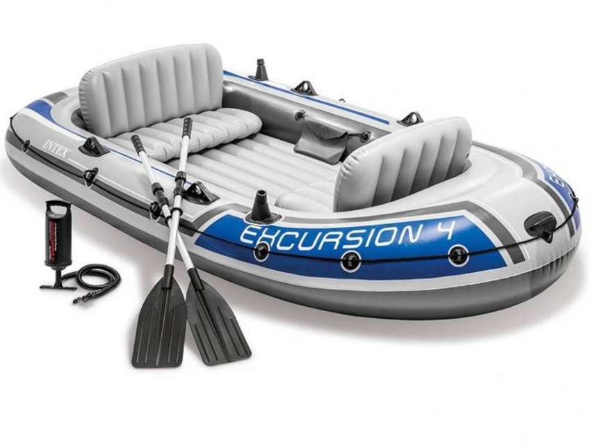INTEX Excursion 4 Boat Set for 4 Persons 0