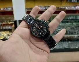 jam tangan wanita fossil black 3 chrono node on