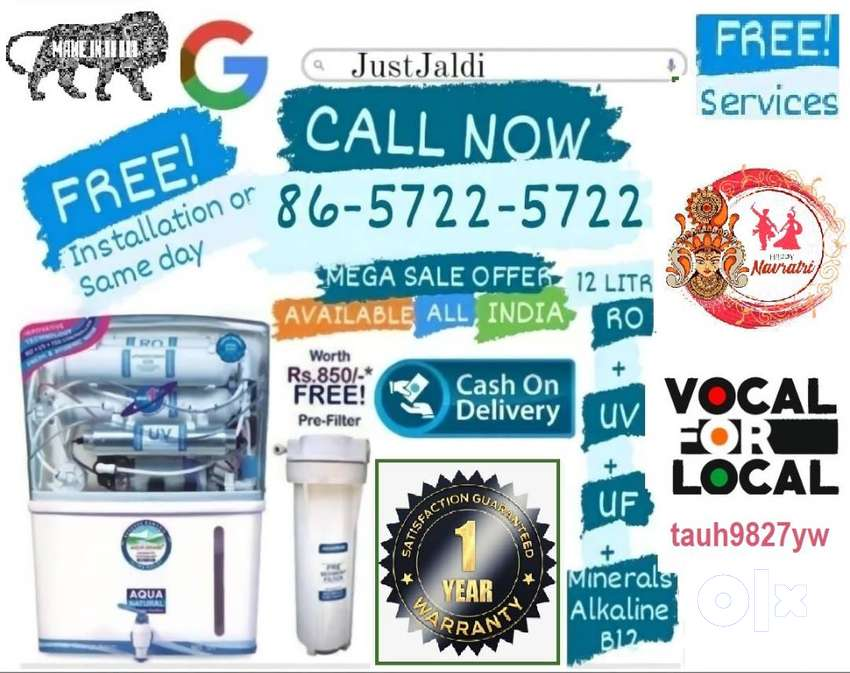 tauh9827yw water purifier ro water tank tv ac dth water filter  Free S