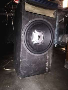 Woofer with double amplifier car sound system