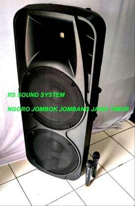 speaker aktif 2 mic wireless