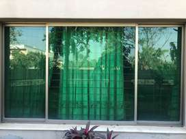 ALUMINIUM WINDOWS (Champaign Colour with glass)