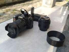 Kamera DSLR Nikon D3100, lensa kit 18-55mm & lensa fix 50mm,NEGO