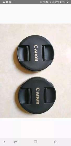 Tutup lensa depan/ front lens cap canon (Ori)