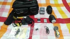 Unused Nikon D3200 DSLR with  Zoom lens