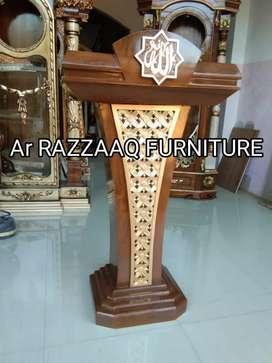 Mimbar kayu jati Ar Razzaq -0152