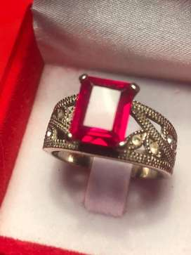 Ruby stone silver 925 ring