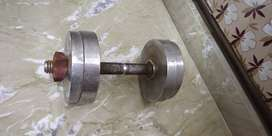 Chrome weights & Chest Press Bench with Bench Rod and Biceps Curl rod