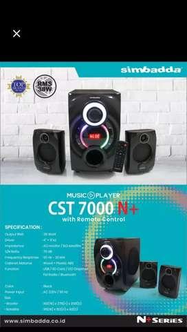 Speaker 2.1 bluetooth simbadda CST 7000n+ mega bass speaker subwoofer