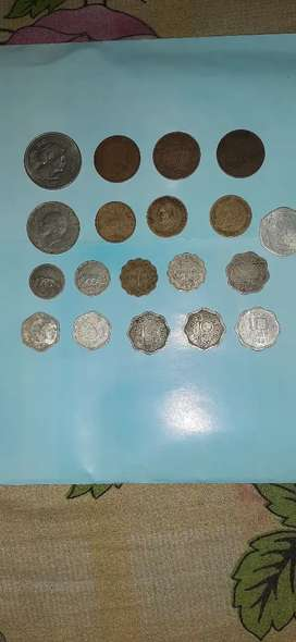 Antique old indian coins