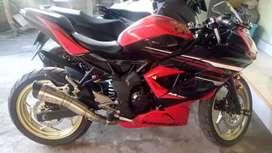 Ninja rr monoshok 250cc kluaran tahun 2009 ss lengkap pajak hidup.