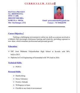 Job Wanted Im CivilEngineer Student