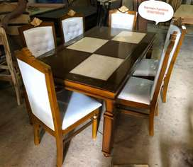 LIMITED EDITION teakwood dining table set direct from manufacturer