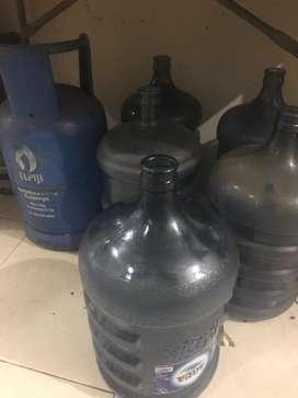 Tabung gas 15 kg n aqua galon kosong