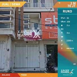 Di Jual/ Sewakan  Ruko Cocok Untuk Segala Usaha di  Tidar Malang