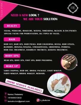 facial,mehend,pedicure,manicure thudangiya service
