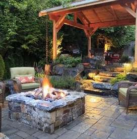 All types of decoration out door seating area