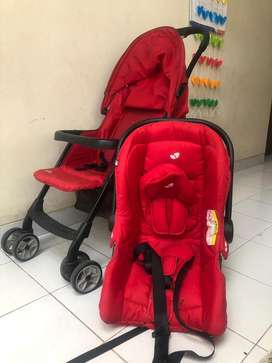 Paket joie stroller + car seat MURAH!