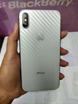 IPHONE X 256 Gb Silver Mulus Garansi iBox TT 7 8 Plus 11 Xr Xs max