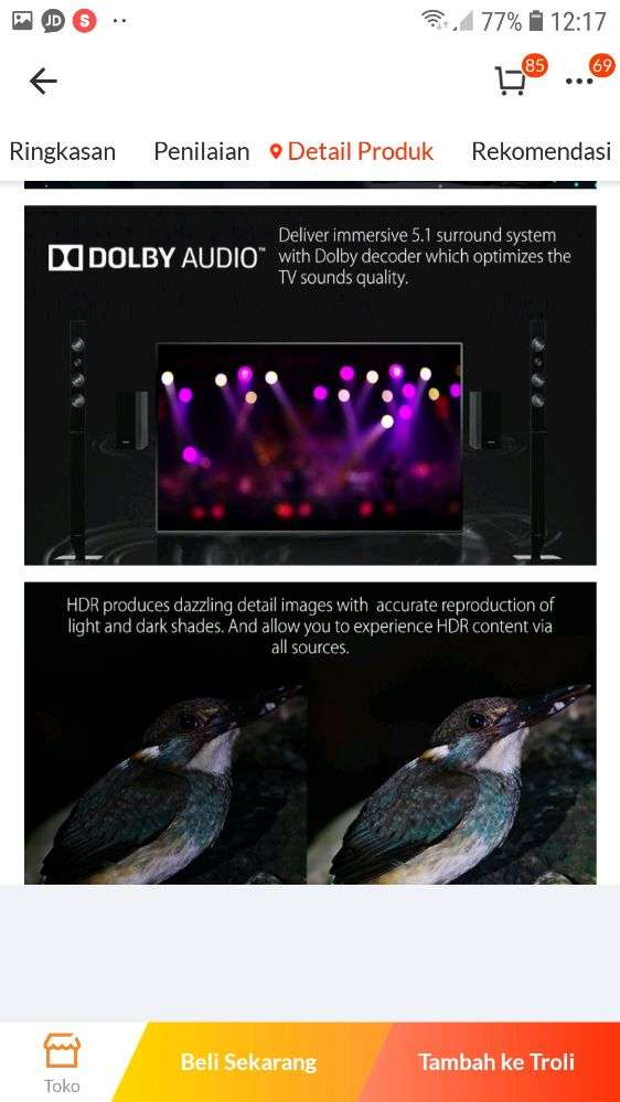 tcl 40inch google certified smart tv FHD  &dollby sound(model 40A3) 0
