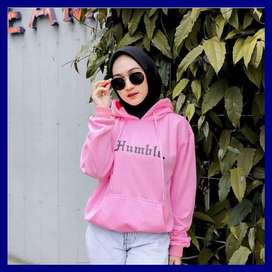 asli bandung  jaket sweater hoodie masakini wanita  vc humble pink