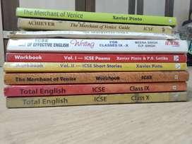9th & 10th ICSE English books