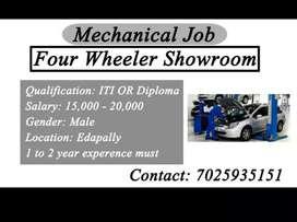 Four wheeler showroom