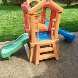 Perosotan Playhouse Preloved Step2 Play Up Double Slide Climber Second