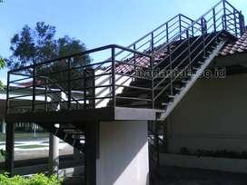Tangga Besi Rooftop Minimalis Magelang
