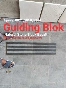 Guiding Block Batu Hitam Asli Black Basalt Natural Stone Tile Polished