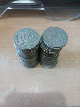 Dijual Uang Logam Denom 100 koin tahun emisi 1973