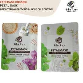 BIU LUV facemask Petals mask Brightening Glowing & acne 20gram