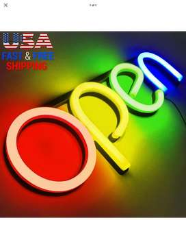 Neon LED open sign 4 your business shop restaurant cafe bar window wal