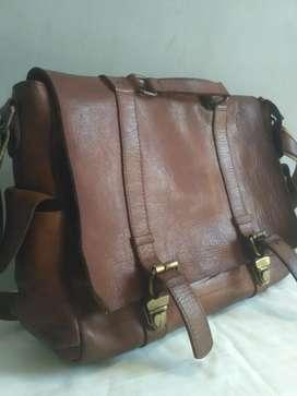 Original Leather Messenger Bag Tas Selempang Pria Kulit Asli