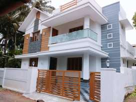 5 cent 3 bedroom modern house + 1900 sq ft- 5 km to thrissur-pamboor
