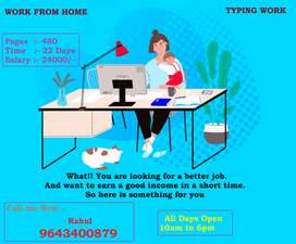 No any hard work. No any Target. Only Typing. only income. call me now