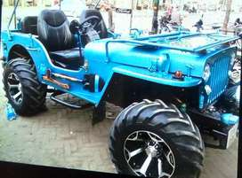 Blue modified Willy jeep