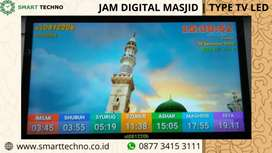"Jual Jam Digital Masjid TV LED ""32 Inchi"""