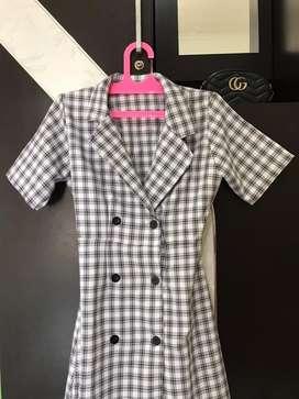 Plaid Korean Dress