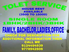 TOLET-SERVICE...1Rk,1Bhk,2Bhk,3Bhk Available Near Palasuni To Kalpana